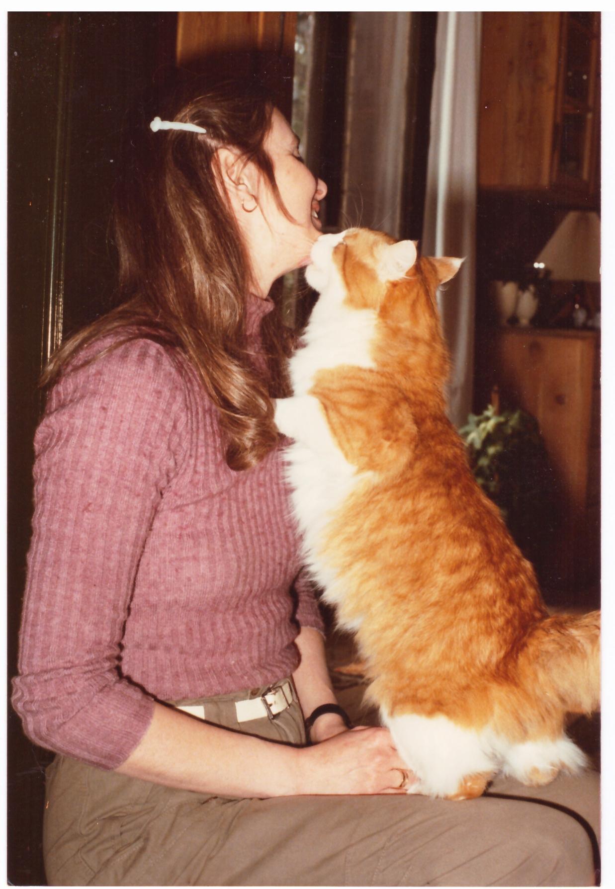 Vibeke Poulsen med Røde Peer, 1982